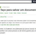 Como faço para salvar / favoritar um documento no JusBrasil?