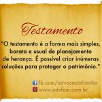 Testamento e planejamento de herança