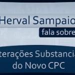 Alterações substanciais no novo CPC