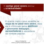 O castigo penal severo diminui a criminalidade?