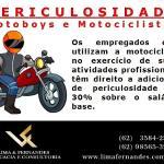 Adicional de periculosidade - Motoboys e Motociclistas
