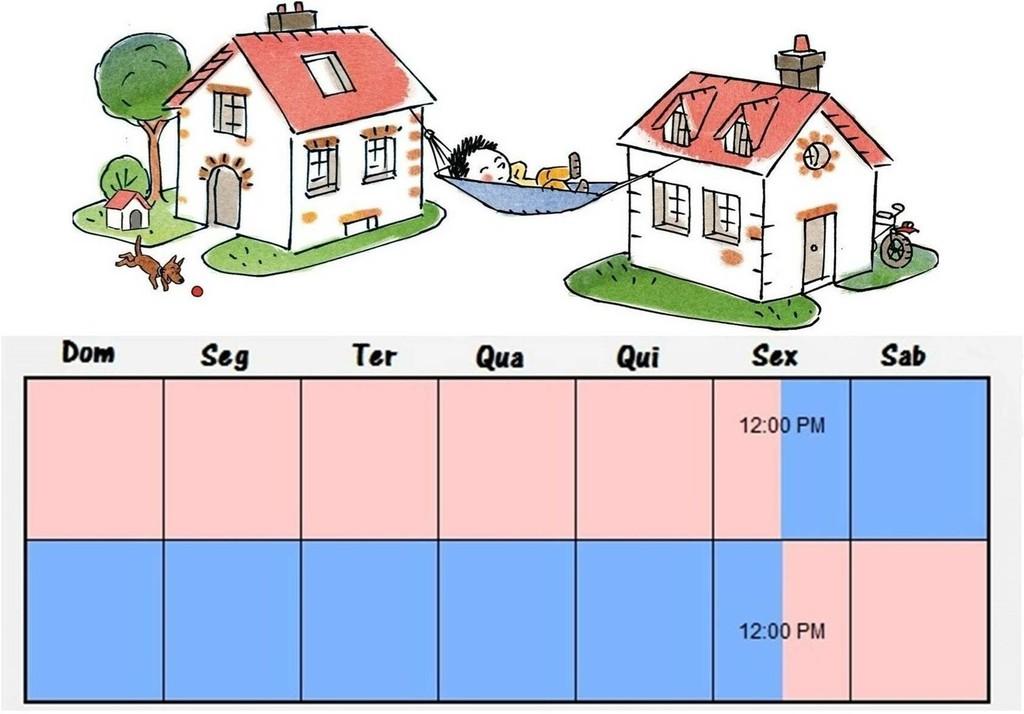 Guarda compartilhada com alternncia de residncias visando a diviso equilibrada do tempo com o pai e com a me LEI N 1305814