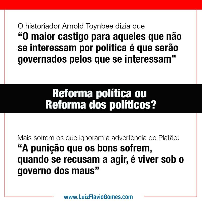 Reforma poltica ou reforma dos polticos