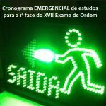 Cronograma emergencial de estudos para a 1ª fase do XVII Exame de Ordem