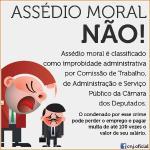 Trabalho aprova classificação de assédio moral como improbidade administrativa