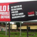 Placa contra 'privilégio' de deficientes é ação da prefeitura de Curitiba