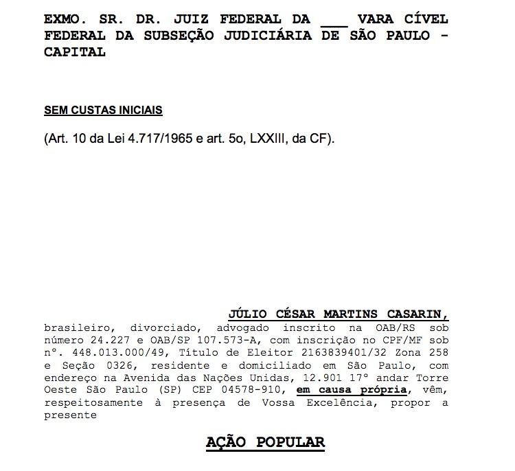 Advogado processa Dilma Rousseff por usar verba pblica em visita ao Ex-Presidente Lula