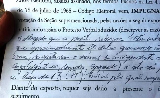 Delegados afirmam que s aparecia o nmero 13 em urna de Porto Velho
