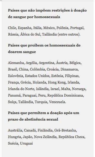 Em 50 pases gays so proibidos de doar sangue por causa da AIDS