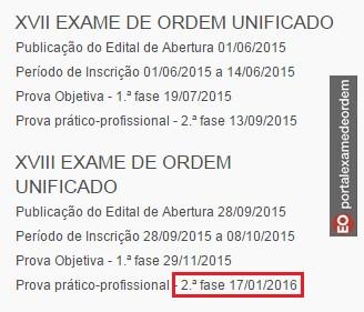 Exame oab 2015 datas