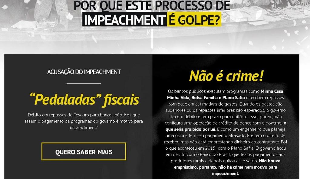 Governo Federal utiliza sites institucionais para defender Dilma Rousseff