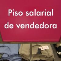 Piso salarial de vendedora